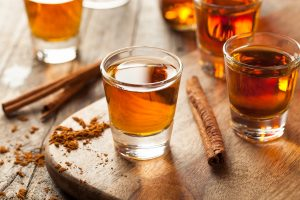 cinnamon shots of Bourbon