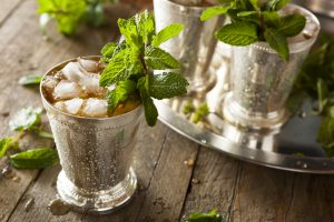 Cold Mint Julep mint leaves
