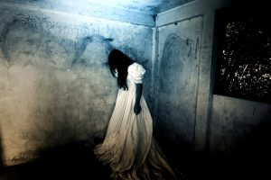 Ghost lady in Haunted House